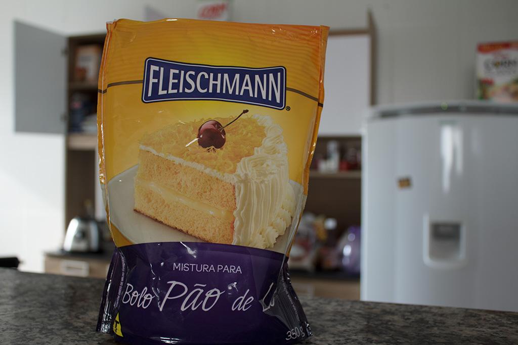 Embalagem mistura para bolo Pão de Ló Fleischmann