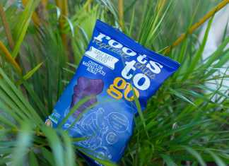 Roots To Go de batata-doce roxa