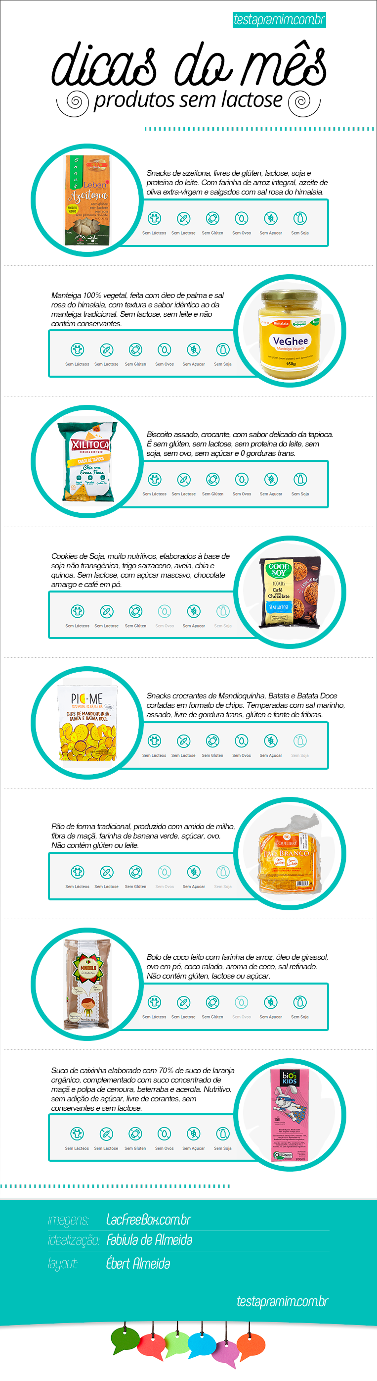 Dicas do mês produtos sem lactose