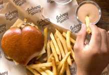Hambúrguer coração dia dos namorados Johnny Rockets