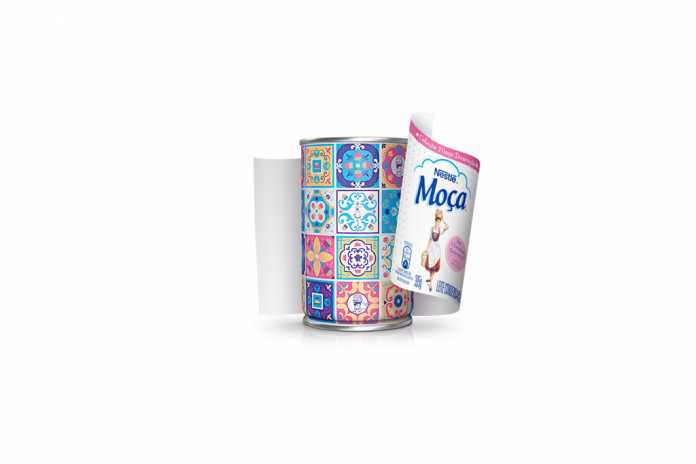 Leite Moça com lata personalizada Nestlé
