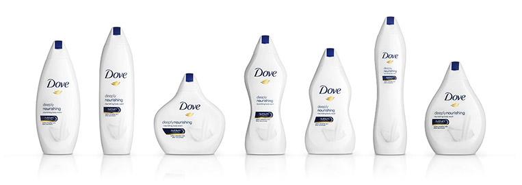 Embalagens nova campanha Dove