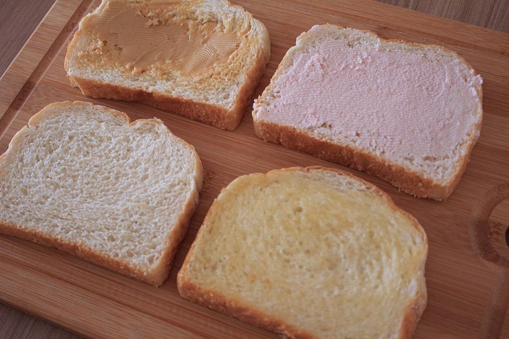 Fatias pão Artesano recheadas