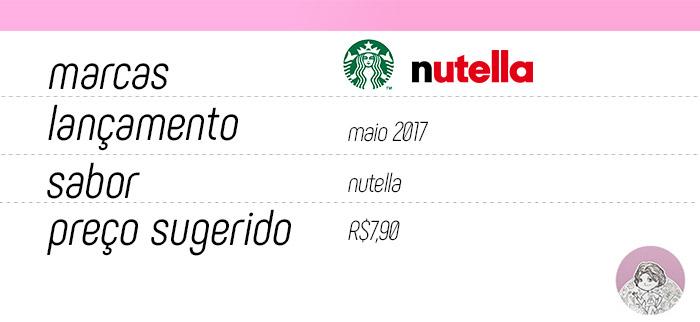 Tabela cookie Starbucks com Nutella