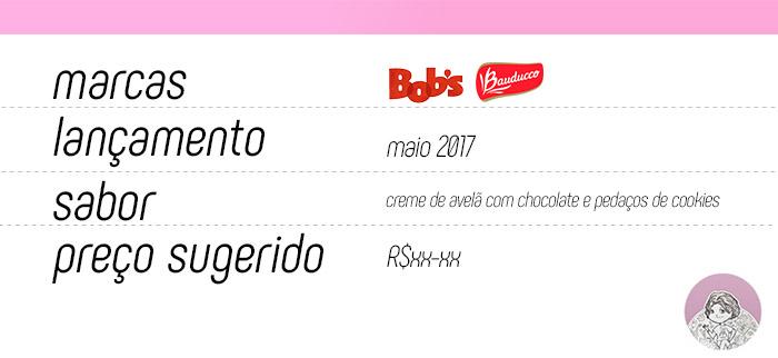 Tabela Milk-shake do Bob's em parceria com a Bauducco