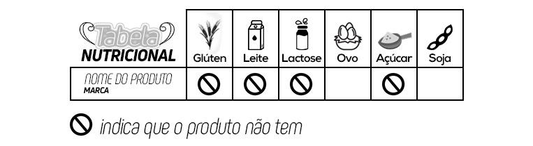 Tabela nutricional estilo LacFree Box