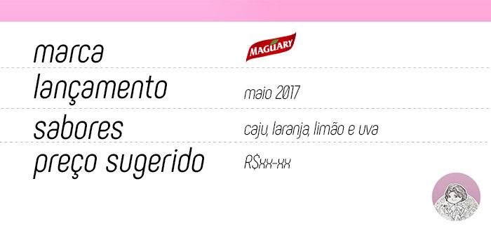 Tabela sucos concentrados adoçados Maguary Uno