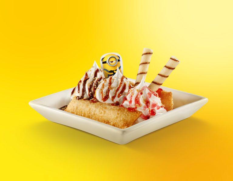 Torta Banana Split Minions McDonald's