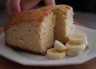 Pedaços bolo de Banana Fleischmann