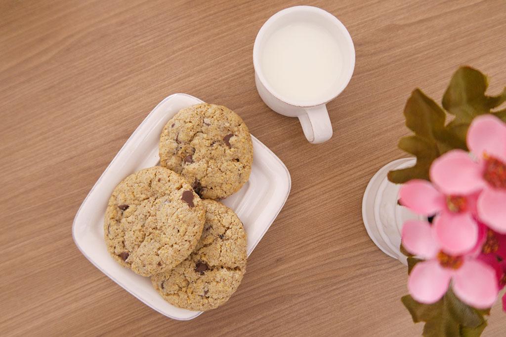 Cookie Baunilha Dona Benta + leite de coco Ducoco