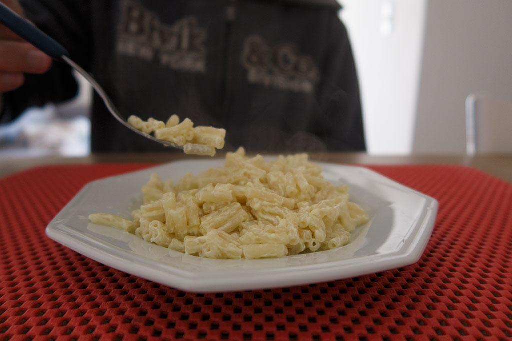 Mac&Cheese 4 Queijos no prato