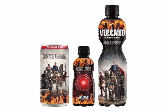 Vulcano Energy Drink Liga da Justiça capa