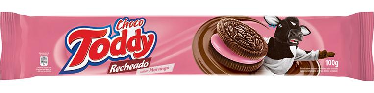Detalhes Biscoito CHOCO TODDY® Recheado Morango