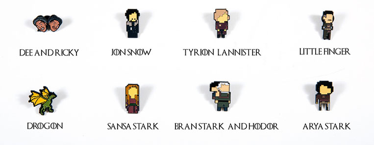 Broches Personagens Game of Thrones GoT