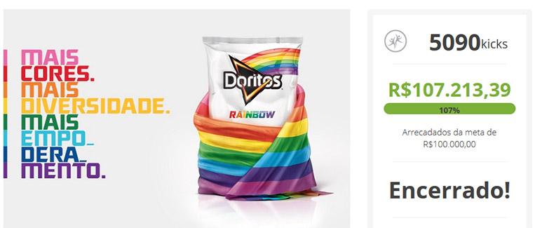Campanha Doritos Rainbow Kickante