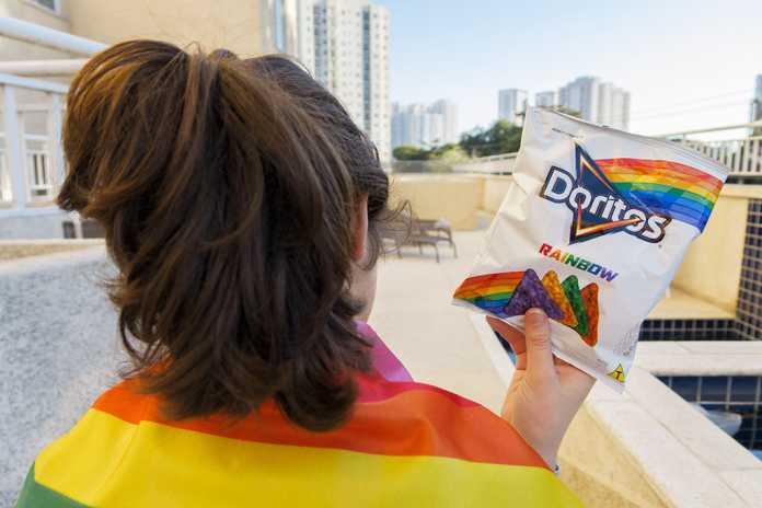 Embalagem Doritos Rainbow