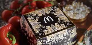 Embalagem Luxo Linha Signature McDonald's