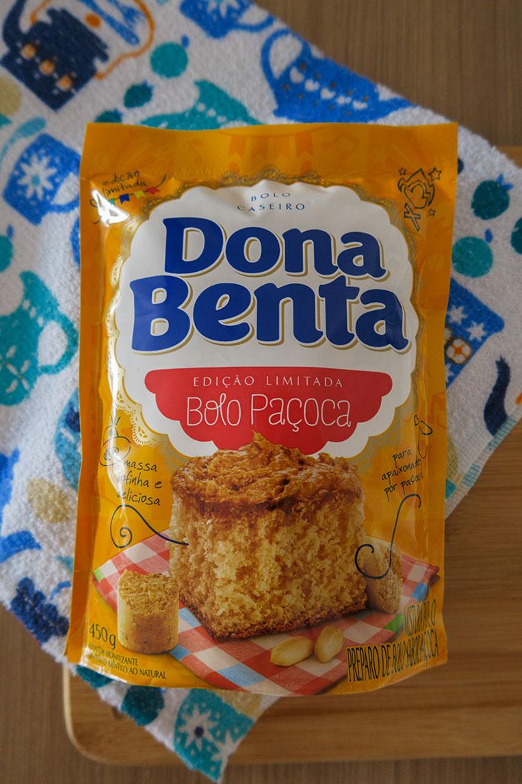 Mistura para bolo Paçoca Dona Benta