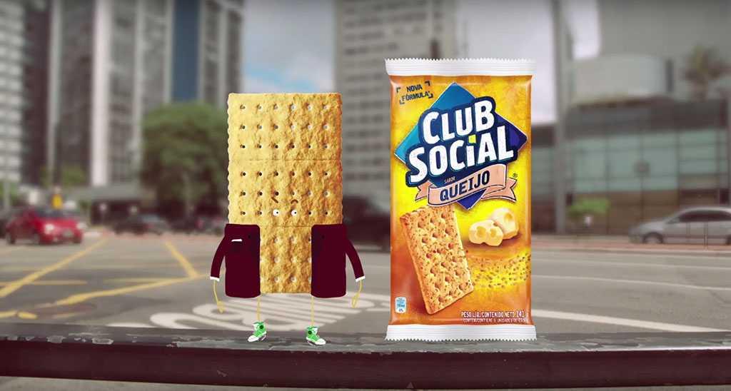 Nova embalagem Club Social Queijo