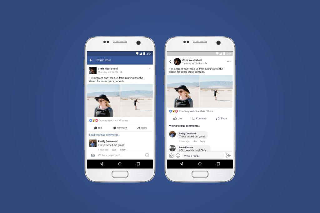 Facebook vair mudar o design da linha do tempo de seu app for O architecture facebook