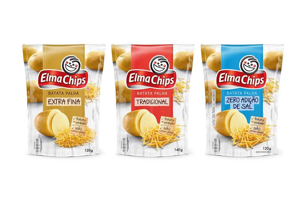 Novas Embalagens Batata Palha Elma Chips
