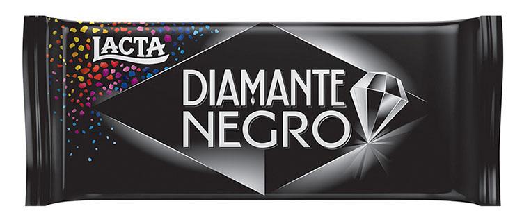 Nova embalagem chocolate Lacta Diamante Negro