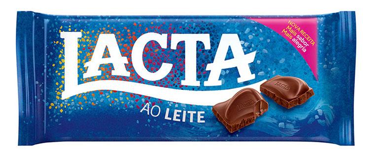 Nova embalagem chocolate Lacta Ao Leite