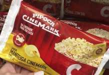 Pipoca para microondas Cinemark