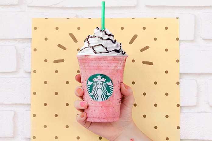 Novo Frappuccino® Starbucks Morango & Choco Chip capa