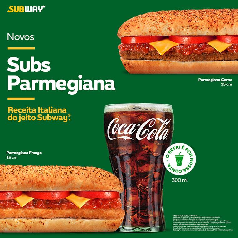 Novos Subway Parmegiana