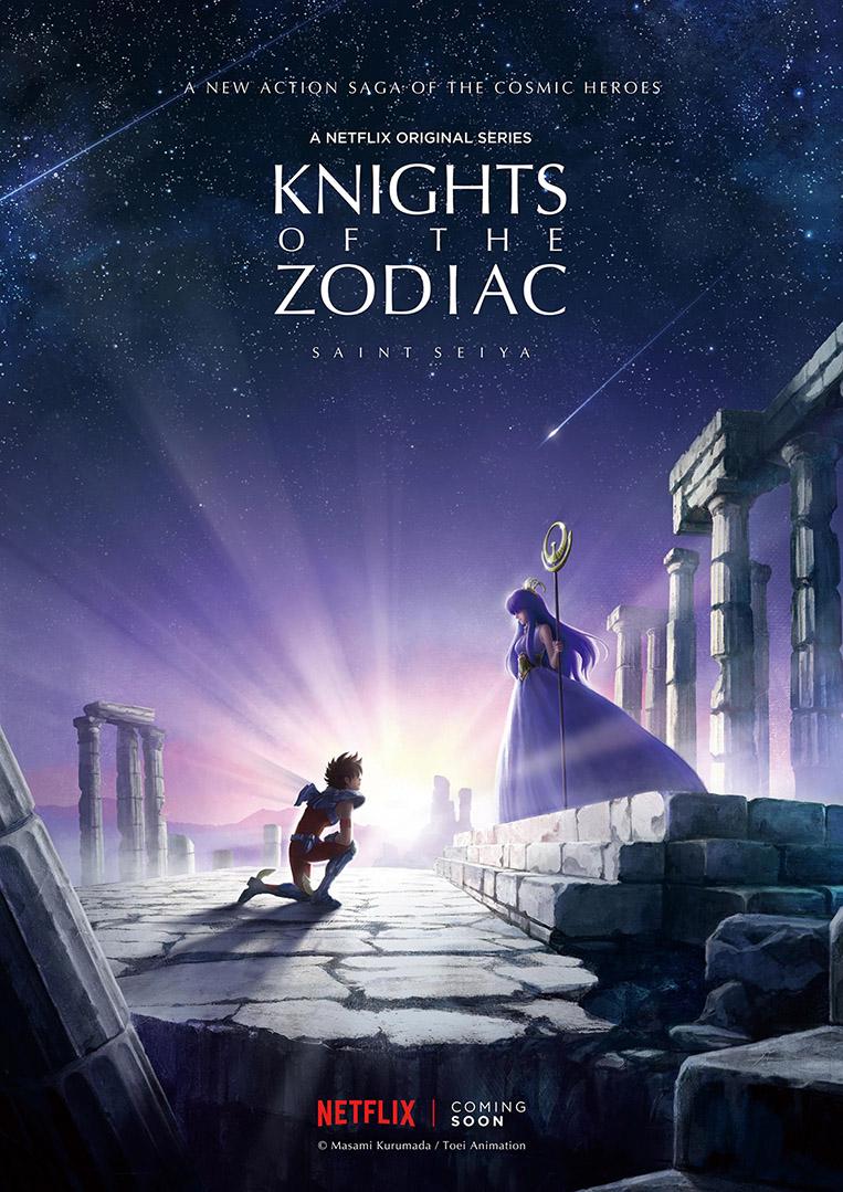 Pôster Cavaleiros do Zodíaco Netflix