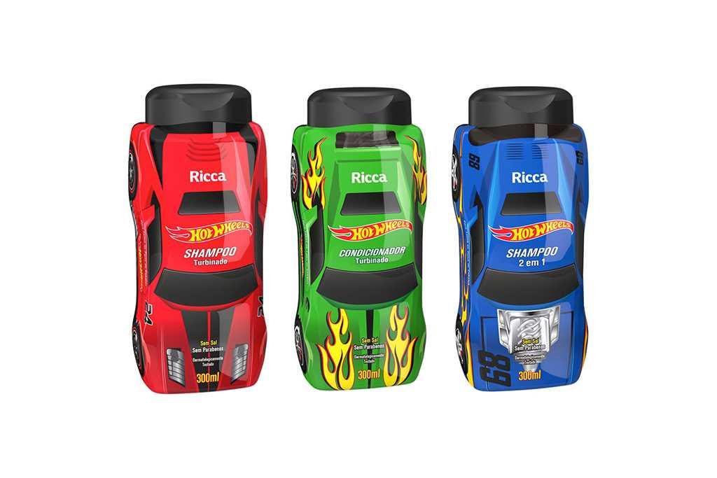 Shampoo e Condicionador Ricca Hot Wheels