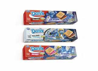 Smurfs estampam embalagens de Danix