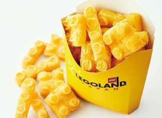 Batatas fritas em formato de LEGO