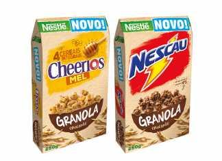 Granolas Crocantes Nestlé Cheerios e Nescau