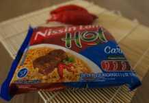 Nissin Lámen Hot Carne