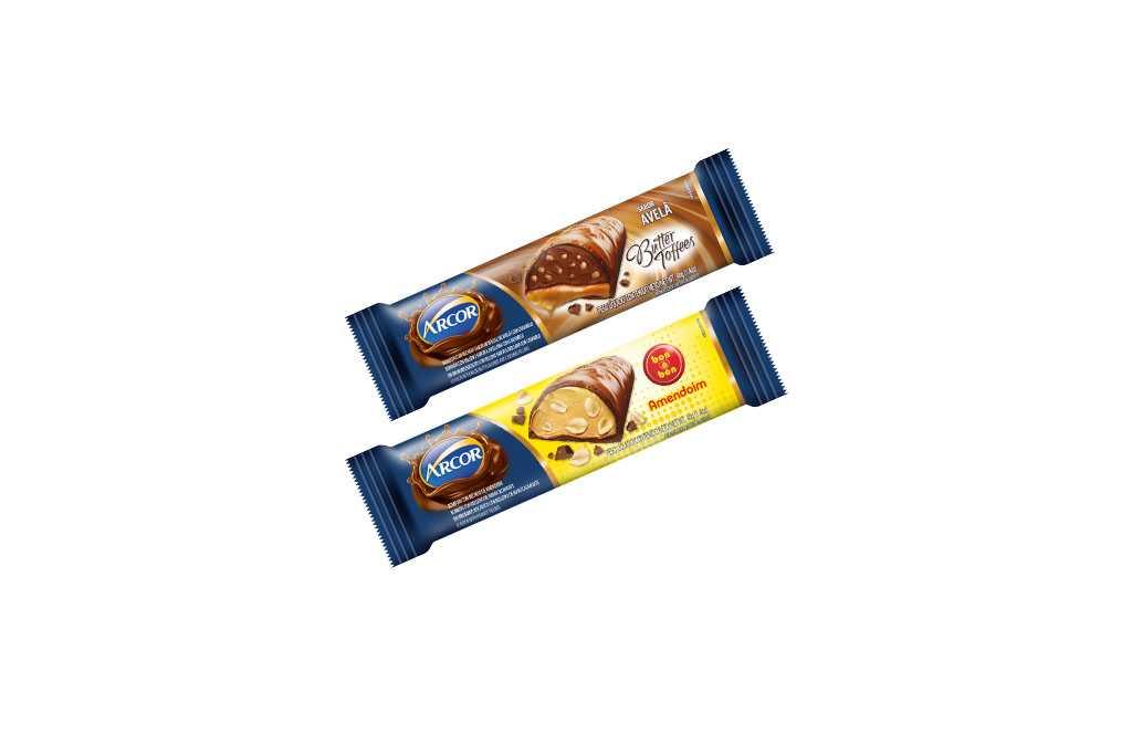 Barras de Chocolate Butter Toffees e Bon o Bon