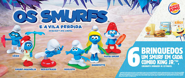 Os Smurfs King Jr Burger King