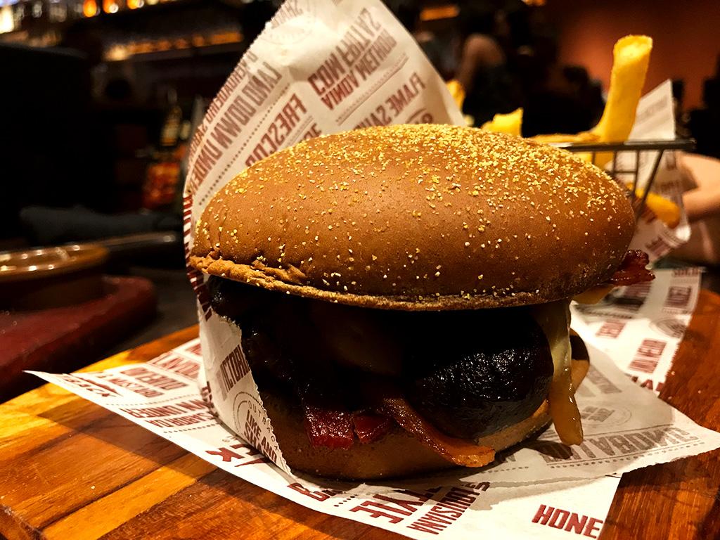 Dark Mushrooms Burger Outback