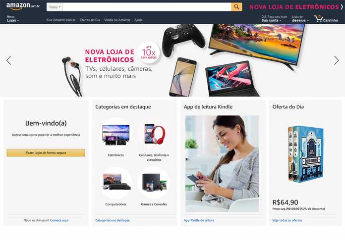 Homepage Amazon.com.br