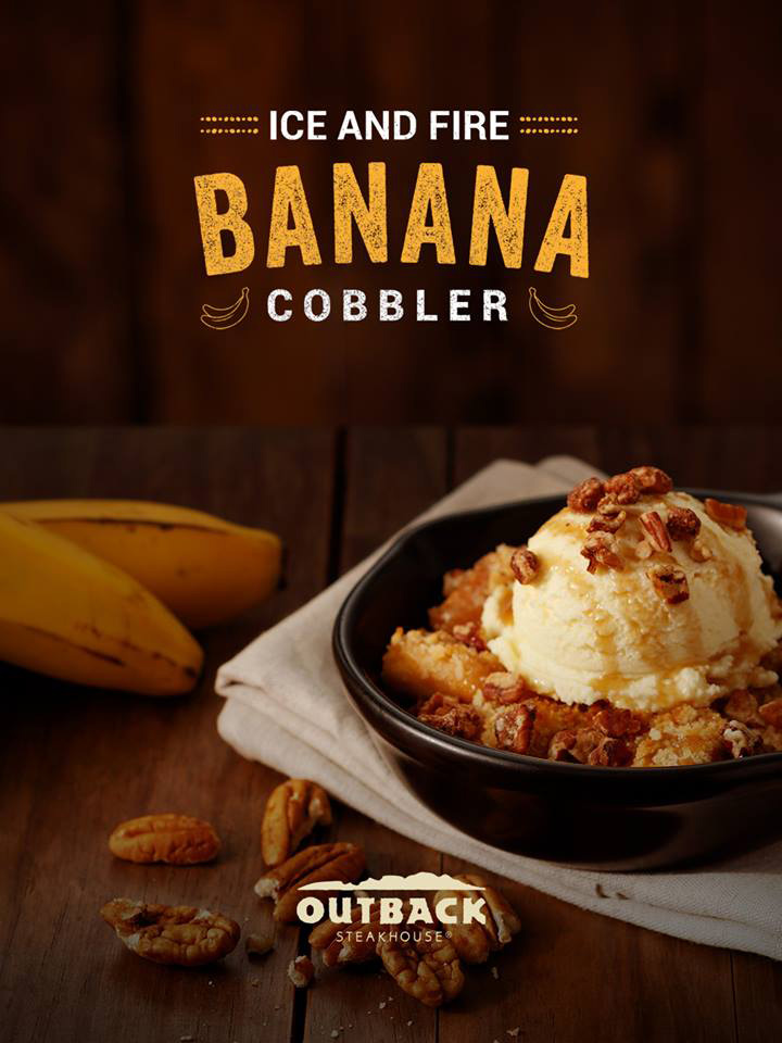 Ice and Fire Banana Cobbler Outback Detalhes