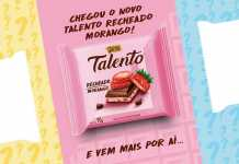 Talento Recheado Morango Garoto
