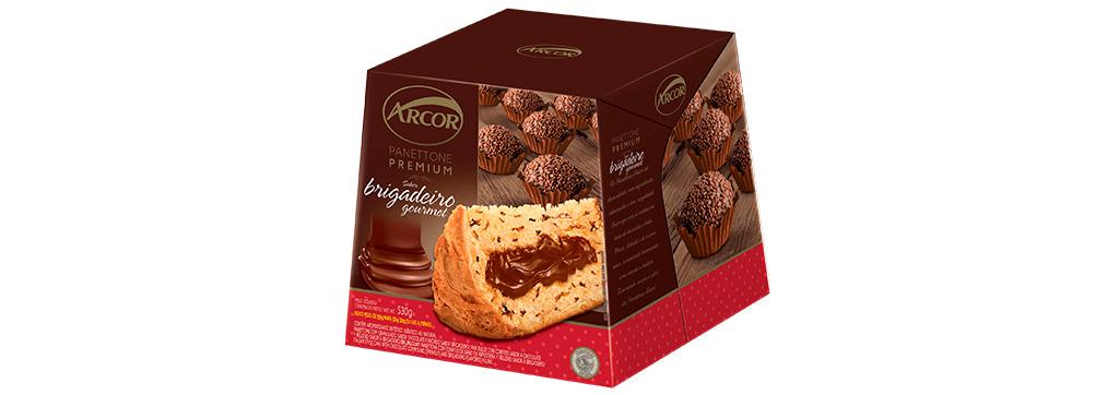 Panettone Premium Brigadeiro Gourmet 530g Arcor