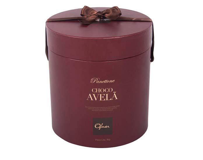 Panettone Choco Avelã 1kg Ofner