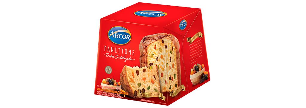 Panettone Frutas Cristalizadas 400g Arcor