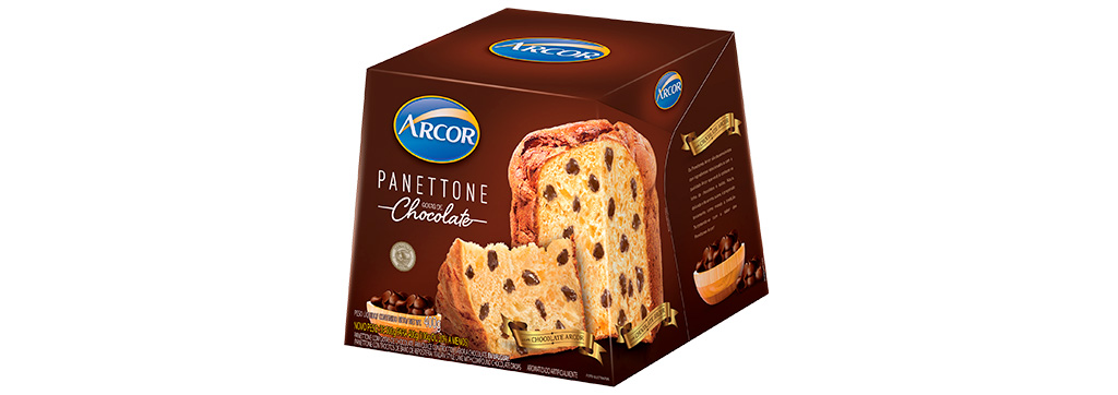 Panettone Gotas de Chocolate 400g Arcor