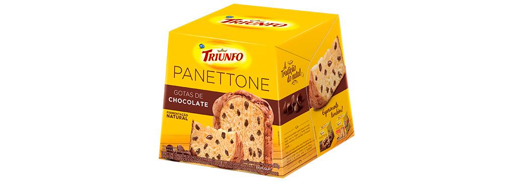 Panettone Gotas de Chocolate 400g Triunfo