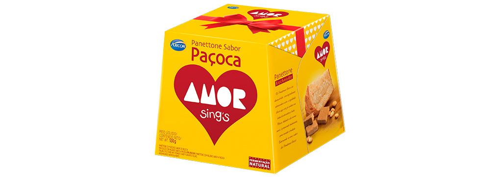 Panettone Paçoca Amor Sings 530g Arcor