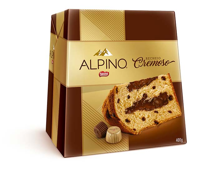 Panettone Recheio Cremoso Alpino 400g Nestlé