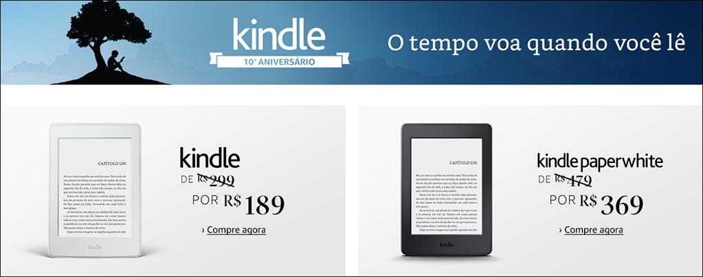 Promoção Kindle 10 Anos